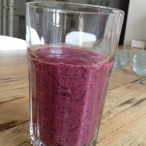 smoothie gember blauwebessen havermout waterkefir