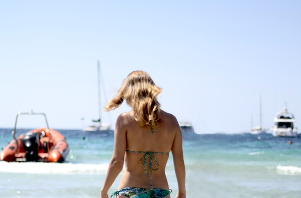 Strand ses salines ibizia