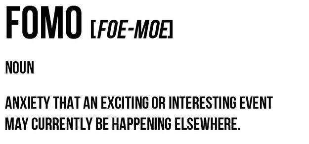 Sex. FOMO of FODI?
